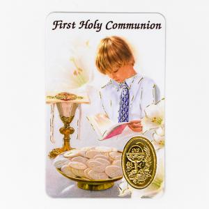 Boy's First Holy Communion Prayer Card