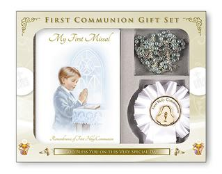 Boys First Holy Communion Rosette Gift Set.