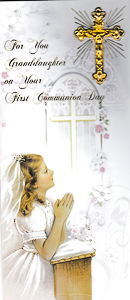 First Holy Communion Card Boxed Granddaughter.