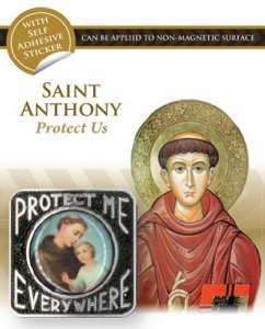 Saint Anthony Car Plaque.