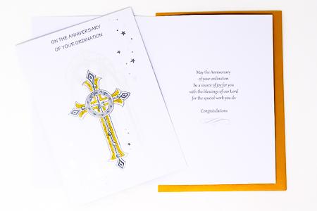 Anniversary Ordination Card.