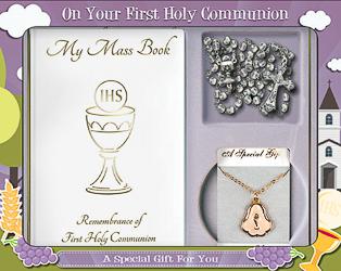 Chalice First Holy Communion Keepsake Gift Set.