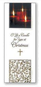 Catholic Christmas Card I Lit A Candle For You.