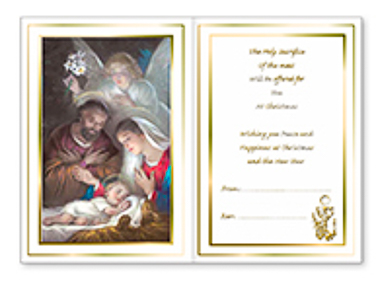 Christmas Priest Card Parchment.