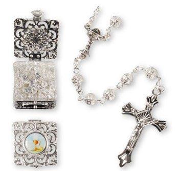 Communion Rosary & Matching Rosary Box