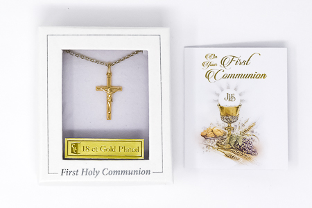 First Communion Crucifix Necklace.