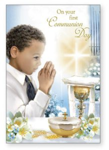 Communion Card Boy.