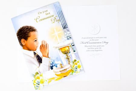 Communion Card Boy.