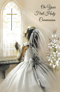 Girl's Communion Card