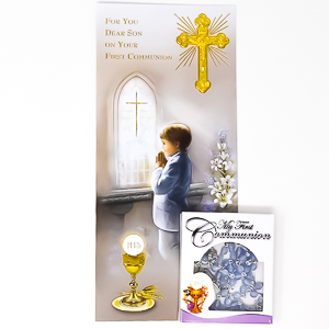 Communion Card for a Boy.