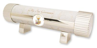 Metal Communion Certificate Holder.