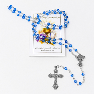Communion Rosary Beads.