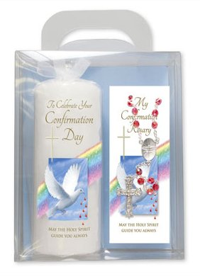 Confirmation Day Candle Gift Set.