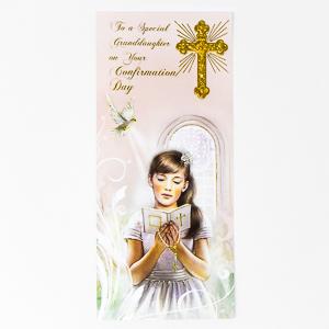 Confirmation Card Granddaughter.