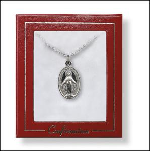Confirmation Silver Plated Miraculous Necklace