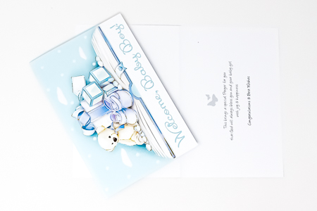 Congratulations Card for a Baby Boy.