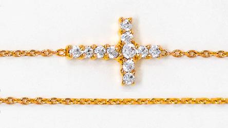Cross Bracelet CZ Stones
