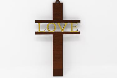 Love Wooden Cross
