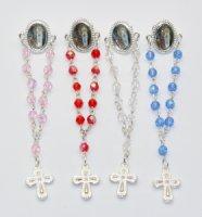 Crystal Rosary Pins.