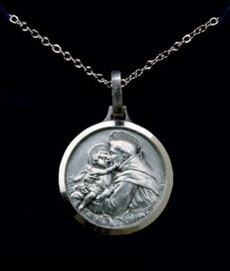 Silver Plated St.Anthony Necklace.