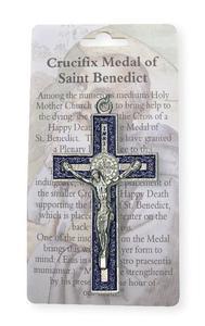 Blue St.Benedict Crucifix.