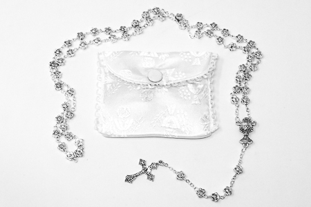 Communion Rosary & Purse.