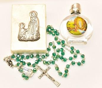 Emerald Rosary Gift Set.