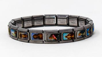 Faith Bracelet Depicting All Saint Images.