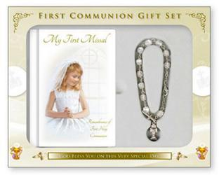 Communion Keepsake Bracelet Gift Set