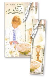 First Holy Communion  Bookmark Card.