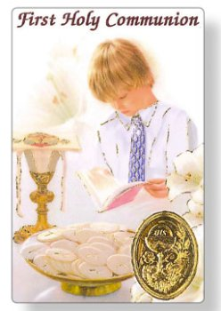 Boys First Holy Communion Prayer Card