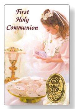 Girls First Holy Communion Prayer Card