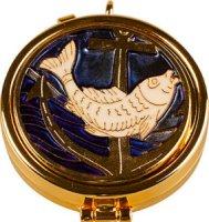 Enamel Fish Pyx.