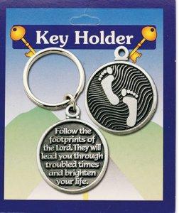 Footprints Follow the Lord Key Ring.