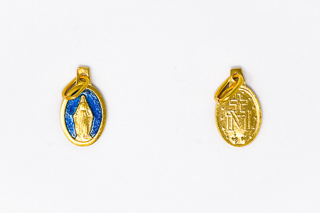 Gold Plated French Miraculous Medal.
