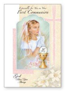 Girl's Communion Card