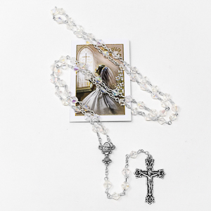 Girl's First Communion Rosary Beads.