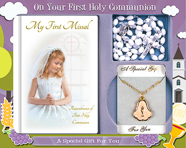 Girs First Holy Communion Gift Set