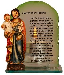 St.Joseph Statue and Candle.