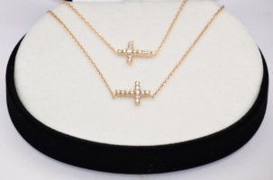 Gold Cross Jewelry Gift Set.