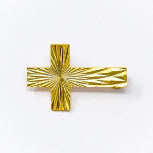 Gold Cross Brooch.