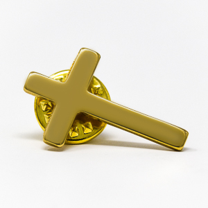 Gold Cross Pin.