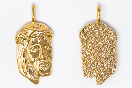 Gold Plated Pendant of Jesus.