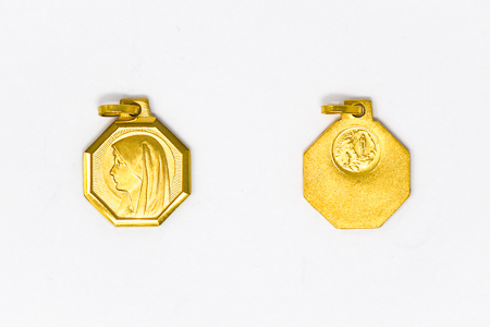 Gold Plated Pendant of the Blessed Virgin Mary