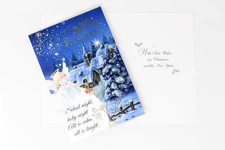 Silent Night Christmas Card.