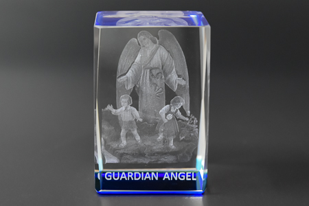 Guardian Angel 3-D Crystal Paperweight.