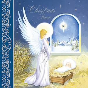 Handcrafted Angel Christmas Card.