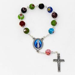 Murano Glass Handheld Rosary Beads.