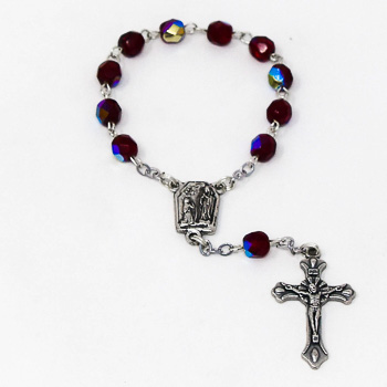 Ruby Handheld Rosary Beads.