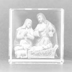 Holy Family Laser Paperweight.